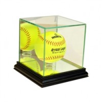 Deluxe real glass softball display