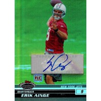 Erik Ainge New York Jets Signed 2008 Topps Stadium Club Card #110 28/50
