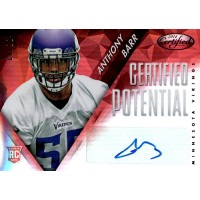 Anthony Barr Vikings Signed 2014 Panini Certified Potential Red Card #P-AB 6/49