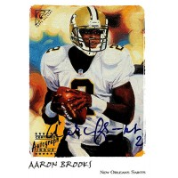 Aaron Brooks New Orleans Saints Signed 2002 Topps Gallery Card #G-AB