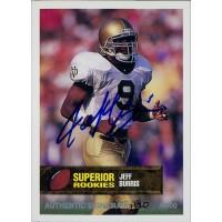 Jeff Burris Notre Dame Fighting Irish 1994 Superior Rookies Autographed Card /4000 #9