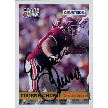 Eugene Chung Virginia Tech Hokies 1992 Courtside Draft Pix Signed Card #20