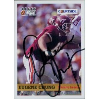 Eugene Chung Virginia Tech Hokies 1992 Courtside Draft Pix Signed Card #20