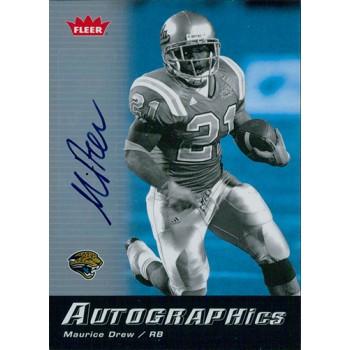 Maurice Drew Signed 2006 Fleer Autographics Football Card #AU-MD