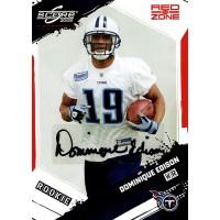 Dominique Edison Titans Signed 2009 Score Inscriptions Red Zone Card #336 13/30