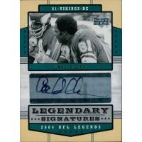 Carl Eller Vikings Signed 2004 Upper Deck Legendary NFL Legends Card #LS-CE