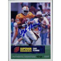 Cory Fleming Tennessee Volunteers 1994 Superior Rookies Autographed Card /5000 #77