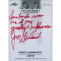 Jim Grabowski Signed Inscribed Vince Lombardi 2011 Leaf Legacy Card #PA-JG1 /50