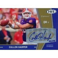 Cullen Harper Signed 2009 SAGE HIT Gold Football Card #A73 /250