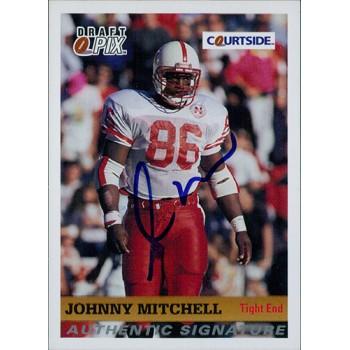 Johnny Mitchell Nebraska Cornhuskers 1992 Courtside Draft Pix Signed Card #75