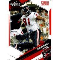 Amobi Okoye Houston Texans Signed 2009 Score Inscription Red Zone Card #112 /30
