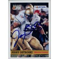 Jerry Ostroski Tulsa Golden Hurricane 1992 Courtside Draft Pix Signed Card #96