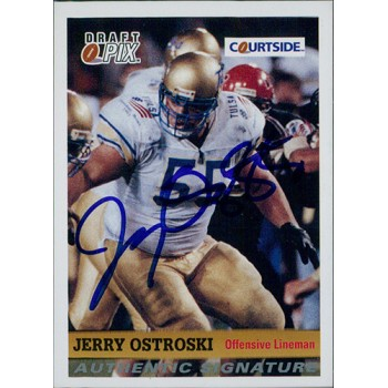 Jerry Ostrosk Tulsa Golden Hurricane 1992 Courtside Draft Pix Signed Card #96