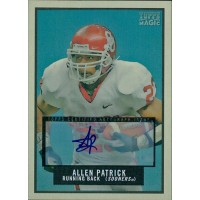 Allen Patrick Signed 2009 Topps Magic Football Card #211