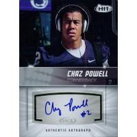 Chaz Powell Penn State Nittany Lions Signed 2012 SAGE HIT Football Card #A26