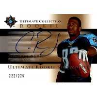 Courtney Roby Titans Signed 2005 UD Ultimate Collection Card #222 /225