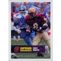 Corey Sawyer Florida State Seminoles 1994 Superior Rookies Autographed Card /6000 #75