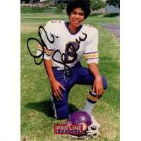 Junior Seau San Diego Chargers Signed 1992 Pro Line Profiles Card #2