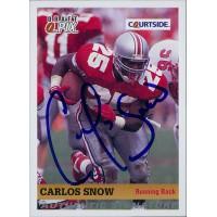 Carlos Snow Ohio State Buckeyes 1992 Courtside Draft Pix Signed Card #69