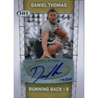 Daniel Thomas Signed 2011 SAGE HIT Football Card #A38 /250