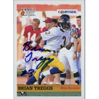 Brian Treggs California Bears 1992 Courtside Draft Pix Signed Card #19