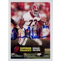 Bernard Williams Georgia Bulldogs 1994 Superior Rookies Autographed Card /4000 #37
