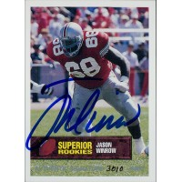 Jason Winrow Ohio State Buckeyes 1994 Superior Rookies Autographed Card /6000 #74