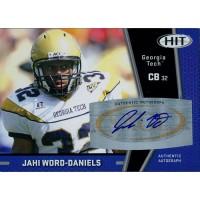 Jahi Word-Daniels Georgia Tech Yellow Jackets Signed 2009 SAGE HIT Football Card #A102