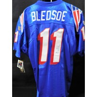 Drew Bledsoe New England Patriots Signed Authentic Jersey JSA Authenticated