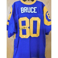 Isaac Bruce Signed St. Louis Rams Custom Jersey JSA Authenticated