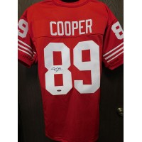 Earl Cooper San Francisco 49ers Signed Custom Jersey Tristar Auth