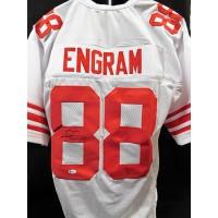 Evan Engram New York Giants Signed Custom Jersey Beckett BAS Authenticated