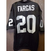 Justin Fargas Signed Custom Black Oakland Raiders Jersey PSA/DNA Authenticated