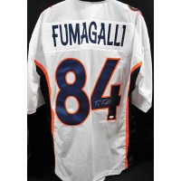 Troy Fumagalli Denver Broncos Signed Custom Jersey JSA Authenticated