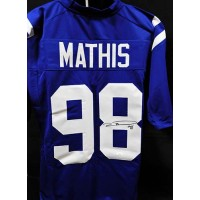 Robert Mathis Indianapolis Colts Signed Custom Jersey JSA Authenticated