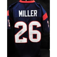 Lamar Miller Houston Texans Signed Custom Jersey TRISTAR and Leaf Authenticated