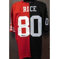 Jerry Rice Signed Custom Oakland Raiders and San Francisco 49ers Half & Half Jersey PSA Authenticated