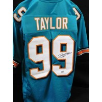 Jason Taylor Miami Dolphins Signed Custom Jersey TRISTAR Authenticated