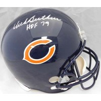 Chicago Bears Gale Sayers Dick Butkus Signed FS Replica Helmet JSA Authenticated