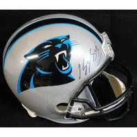 Kelvin Benjamin Carolina Panthers Signed Full Size Rep Helmet JSA Authenticated