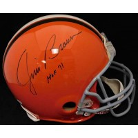 Jim Brown Cleveland Browns Signed Full Size Authentic Helmet JSA Authenticated