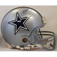 Dallas Cowboys Troy Aikman and Tony Dorsett Signed F Authentic Helmet TRISTAR
