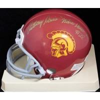 Anthony Davis USC Trojans Signed Mini Helmet JSA Authenticated