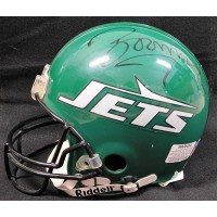 Boomer Esiason New York Jets Signed Authentic Full Size Helmet JSA Authenticated