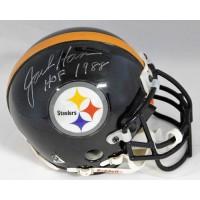 Jack Ham Pittsburgh Steelers Signed Authentic Mini Helmet JSA Authenticated