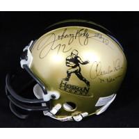 Heisman Trophy Winners Sims, Ware x5 Signed Mini Helmet JSA Authenticated