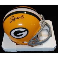 Paul Hornung Green Bay Packers Signed Replica Mini Helmet JSA Auth.