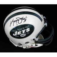 Kerry Jenkins New York Jets Signed Mini Helmet JSA Authenticated
