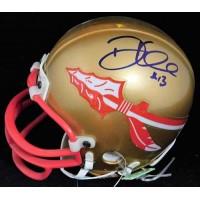 Danny Kanell Florida State Seminoles Signed Mini Helmet JSA Authenticated
