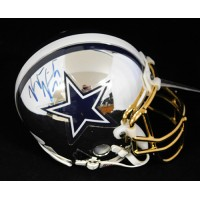 Keylon Kincade Dallas Cowboys Signed Chrome Mini Helmet JSA Authenticated